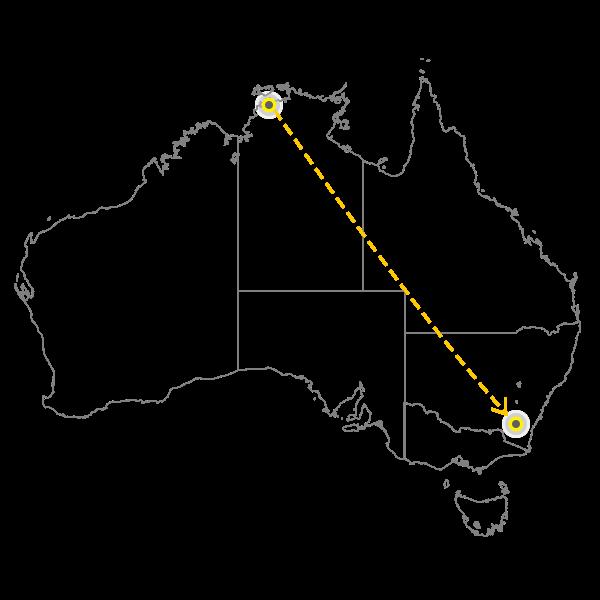 Darwin - Canberra
