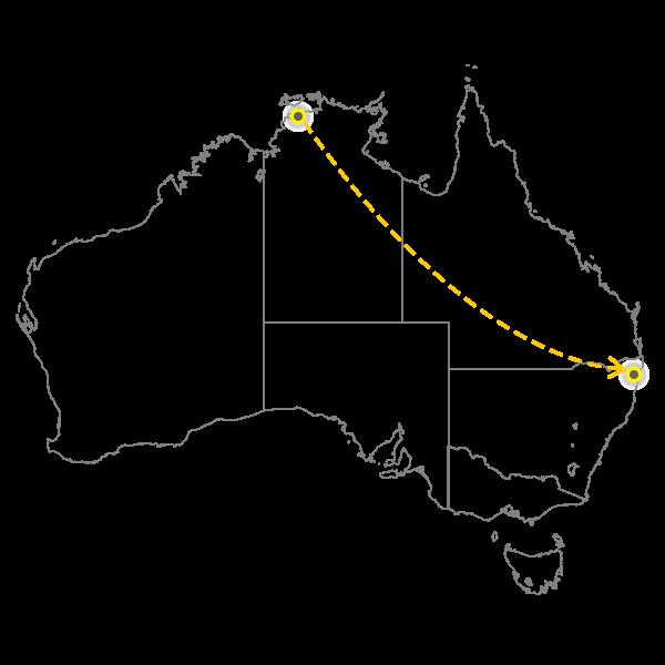 Darwin - Gold Coast