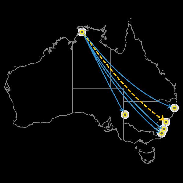 Darwin - Sydney