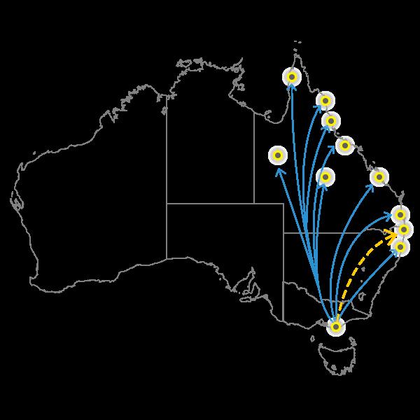 Melbourne - Brisbane
