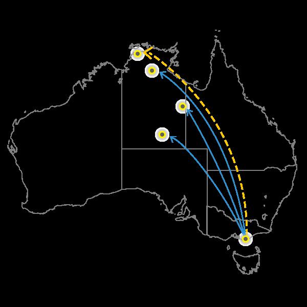 Melbourne - Darwin