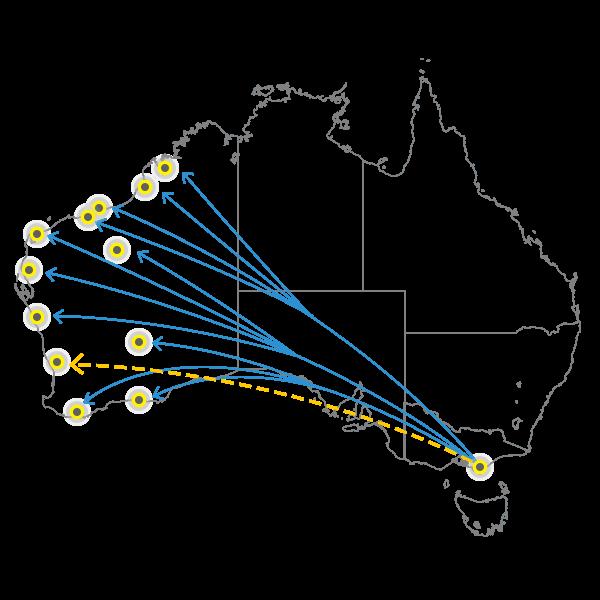 Melbourne - Perth