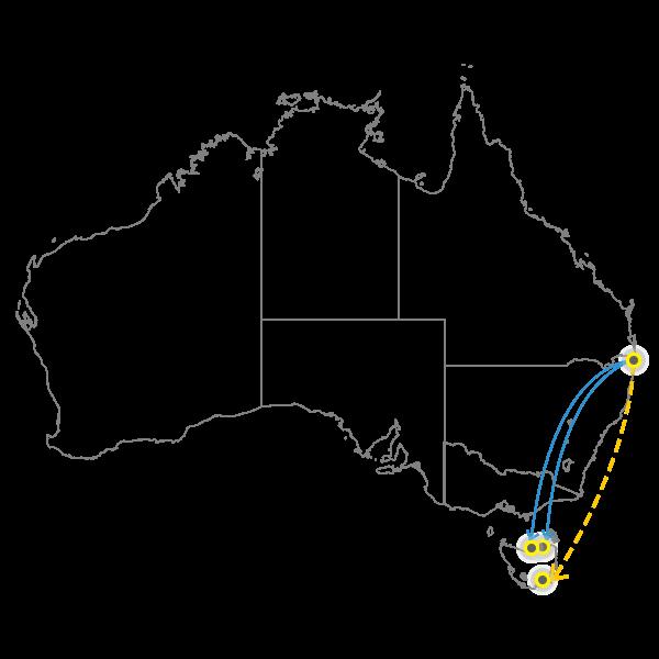 Brisbane - Tasmania
