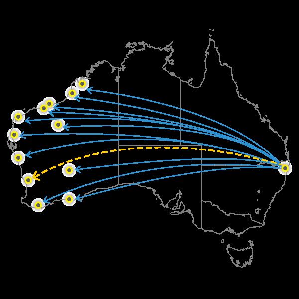 Gold Coast - Perth