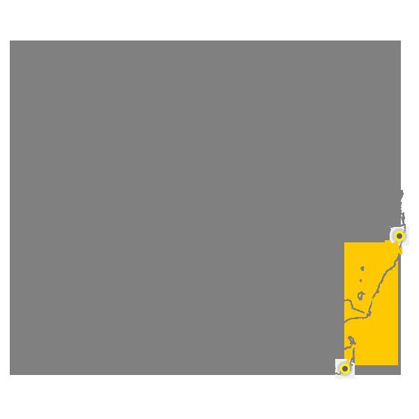 Tasmania to Gold Coast