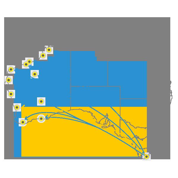 Tasmania to Perth