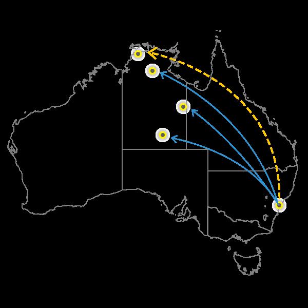 Sydney - Darwin
