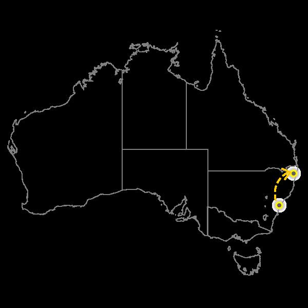 Sydney to Gold Coast