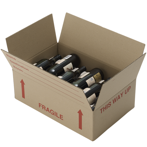 Flat Wine Box (with NO Bottle Inserts)