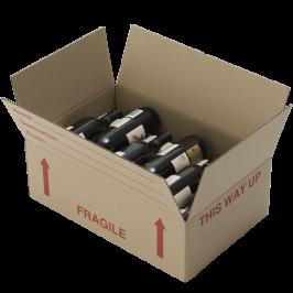 Flat Wine Box (with NO Bottle Inserts)