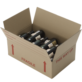Wine Box with Bottle Inserts
