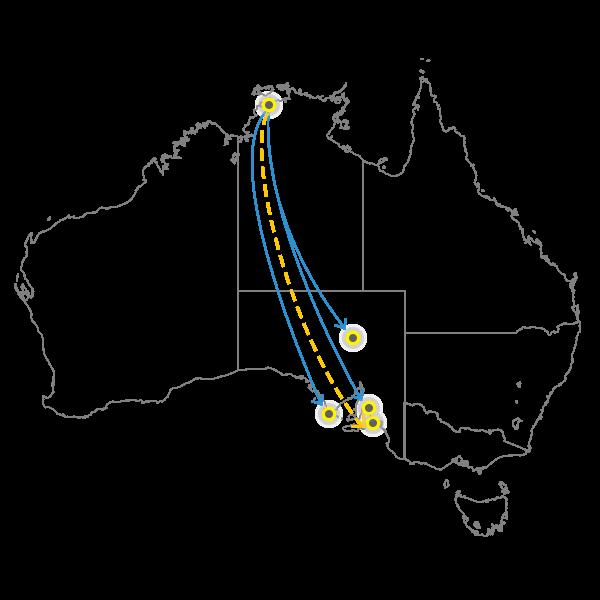 Backloading Darwin to Adelaide