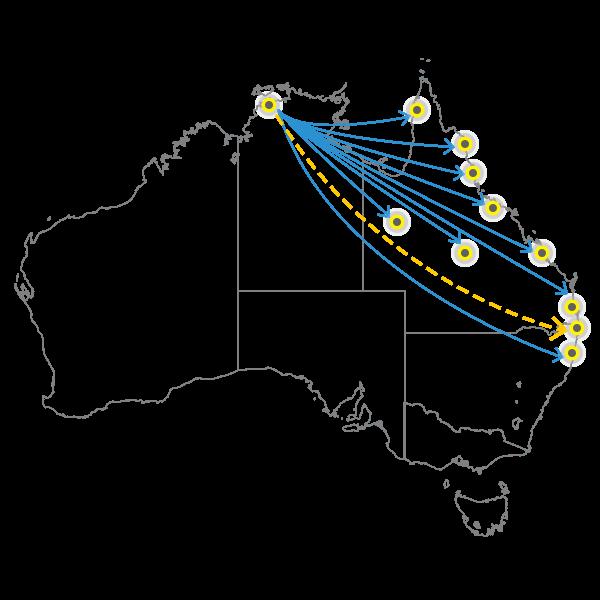 Backloading Darwin to Brisbane