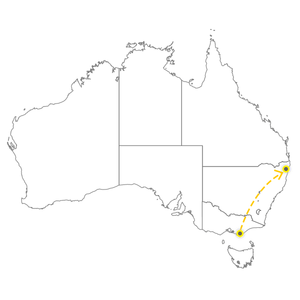 Backloading Melbourne to Gold Coast