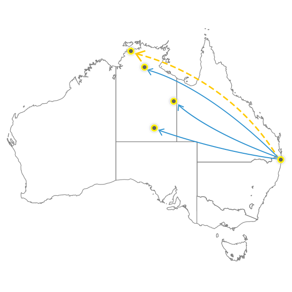 Brisbane - Darwin
