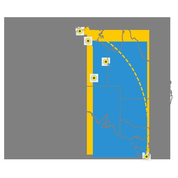 Tasmania to Darwin