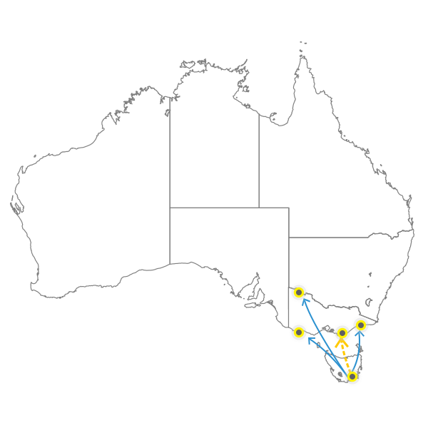 Tasmania to Melbourne