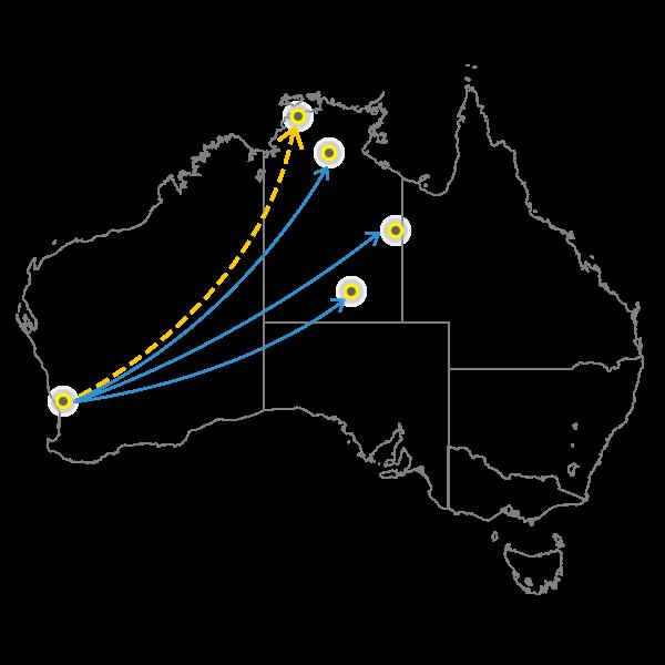Perth - Darwin