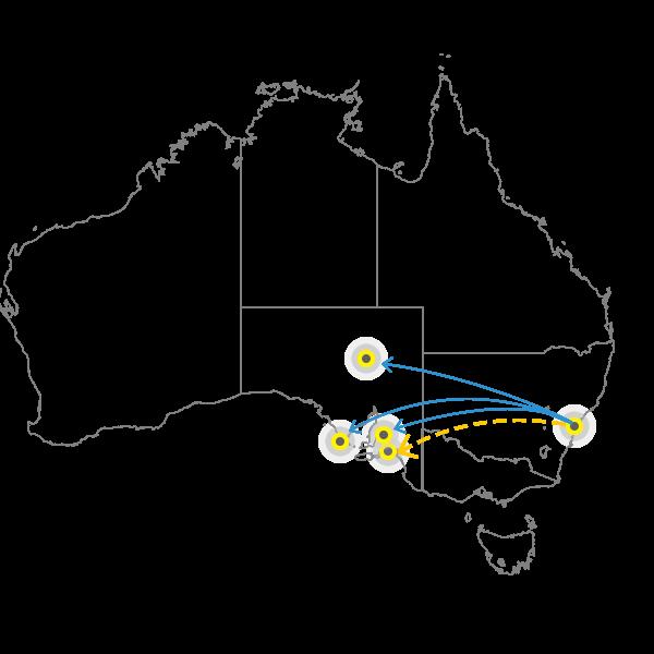 Sydney to Adelaide