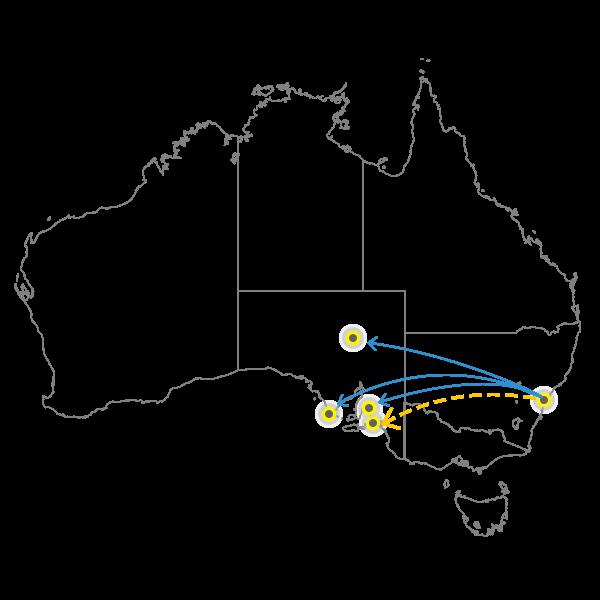 Sydney - Adelaide