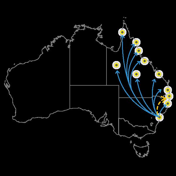 Backloading Sydney to Brisbane