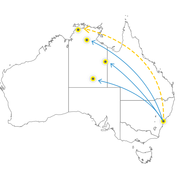 Backloading Sydney to Darwin