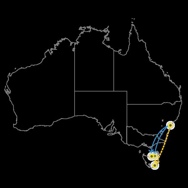 Backloading Sydney to Tasmania