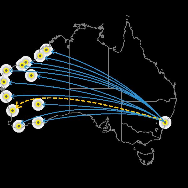 Sydney to Perth