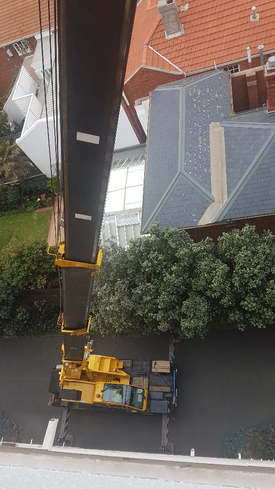 Melbourne Removalists - Crane Loading 7th Floor