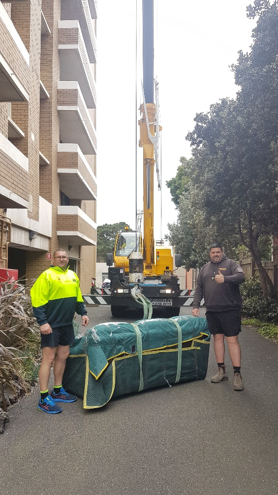 Removals Team - Cane Loading of furniture items - Melbourne Local Moves