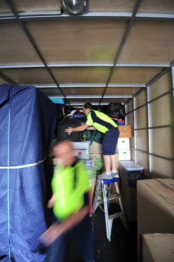 Removal Team - Loading a Truck