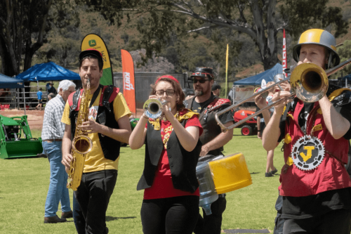 Marching band at Perth festival